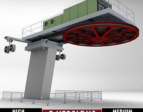 3D model Ski lift cableway pillars 2