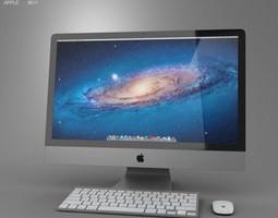 3d model apple imac 27 2012 low-poly