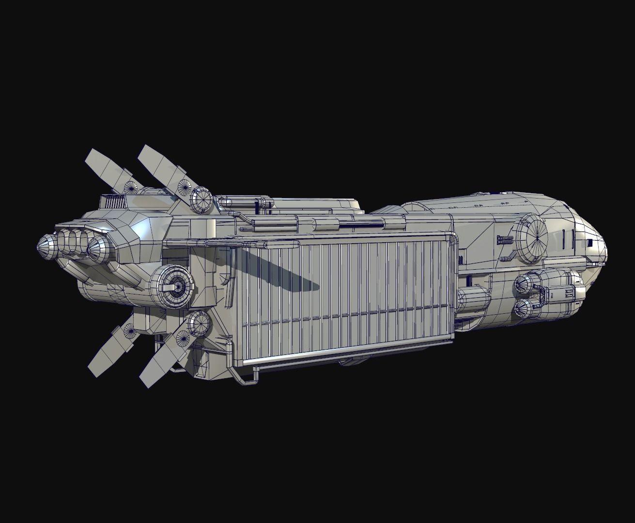 Sci Fi Transport Ship on Star Trek Starship Parts
