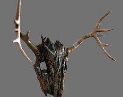 Ancients Wooden Mask 3D Model