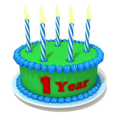 Birthday cake 023D model