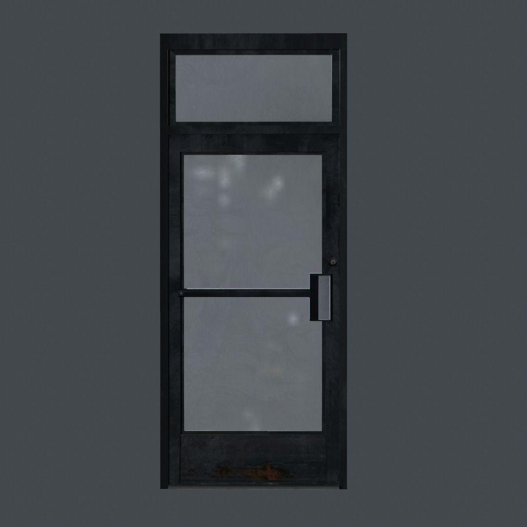 3d model business front door vr ar low poly obj fbx ma for Front door models