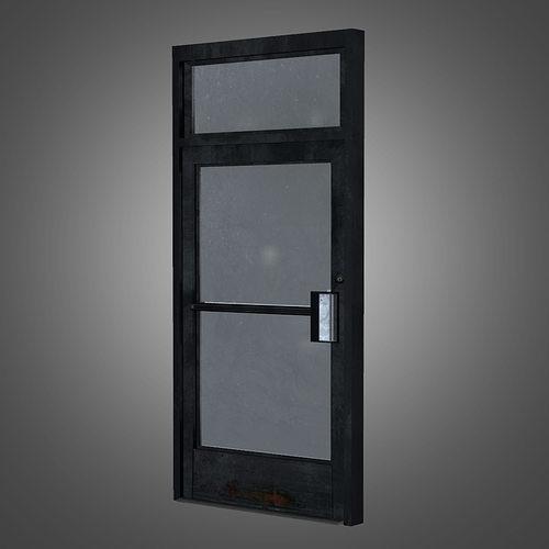 business front door 3d model low-poly obj mtl fbx ma mb tga 1