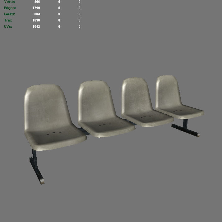 3D asset Laundromat Bench Chairs | CGTrader
