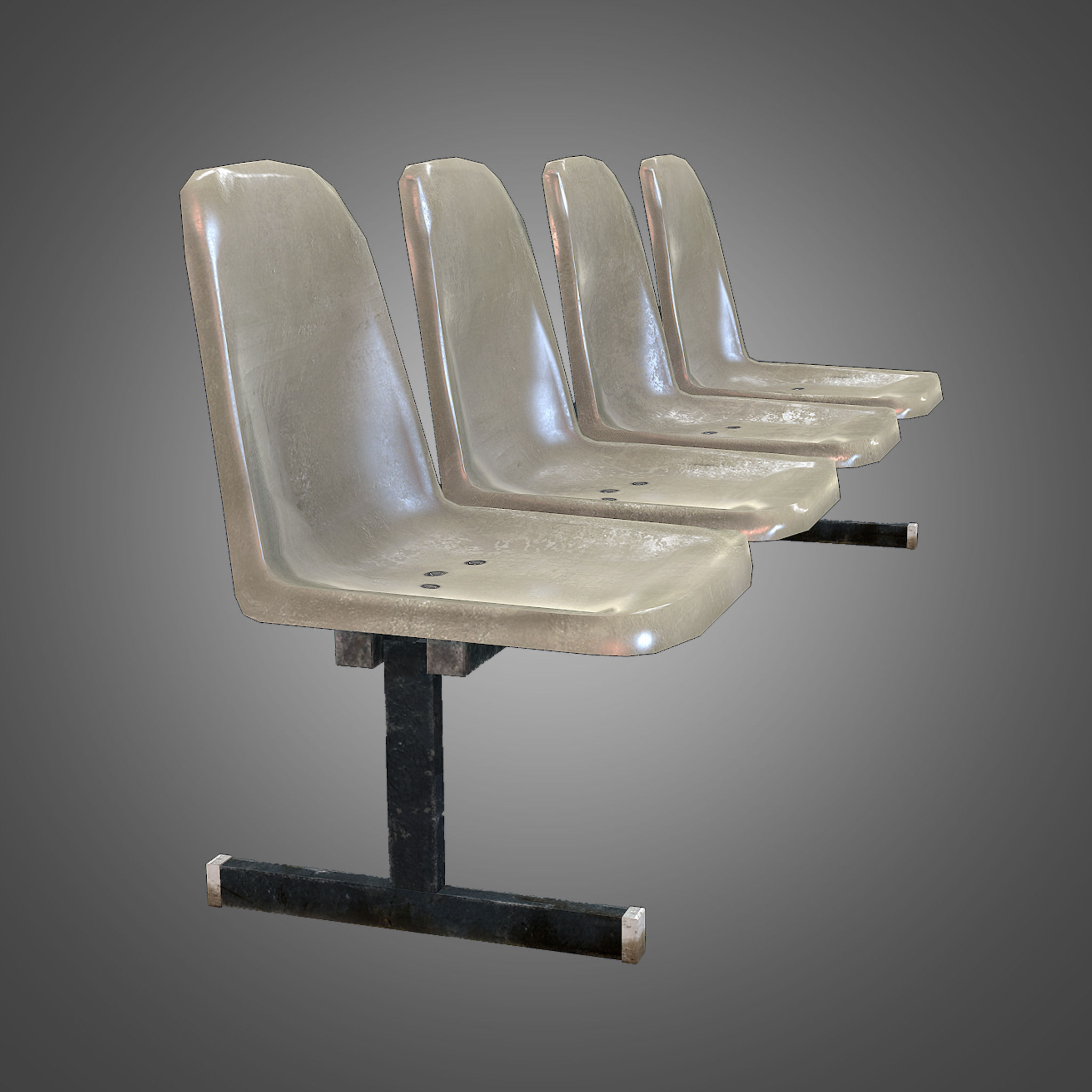... Laundromat Bench Chairs 3d Model Low Poly Obj Fbx Ma Mb Tga 5 ...