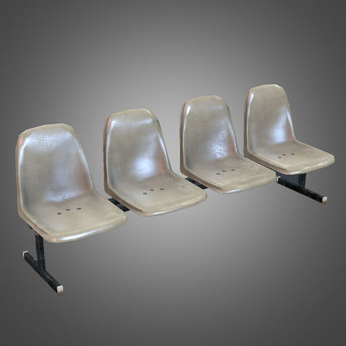 Laundromat Bench Chairs3D model