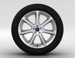 Ford Focus Wheel 18 inch 001 3D Model