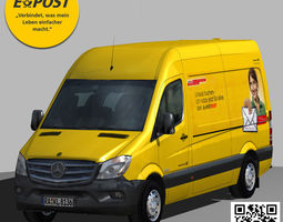 E-POST Mercedes Sprinter 3500 Panel van 3D model