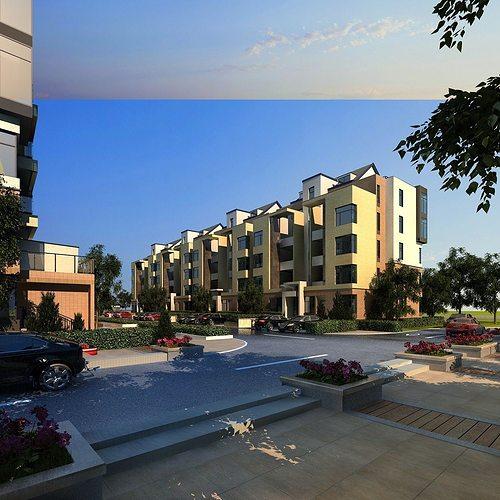 3d Model House Building Residential: Multi Residential Building 3D