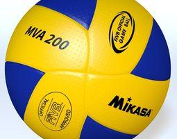 mikasamva200 official fivb ball 3d model obj 3ds fbx blend dae mtl