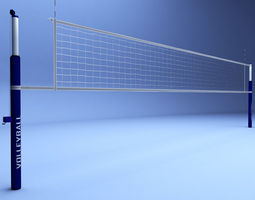 volleyball net low poly 3d model low-poly max obj 3ds fbx mtl