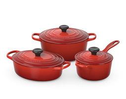 Le Creuset cookware set 3D model