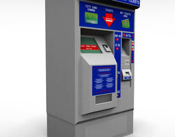 Bus Ticket Machine 3D