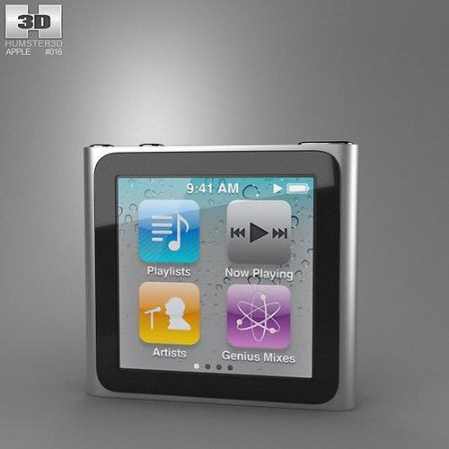 apple ipod nano 3d model low-poly max obj mtl 3ds fbx c4d lwo lw lws 1