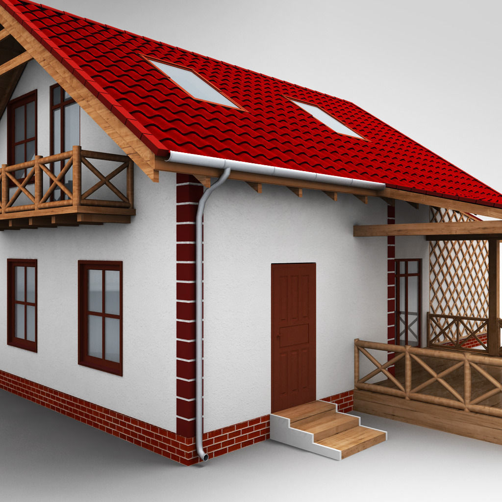 3d single family house high detail cgtrader