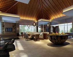 Lobby interior-design 3D