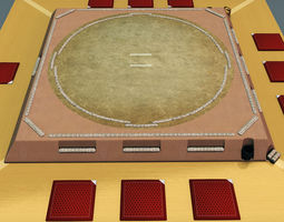 Sumo ring dojo sport 3D model