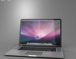 realtime 3d asset apple macbook pro with retina display 15 inch display