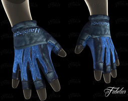 weight lifting gloves 2 3d asset low-poly