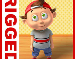 Boy cartoon rigged 03 3D Model