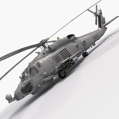 sh-60b seahawk 3d model max obj mtl fbx tga 1