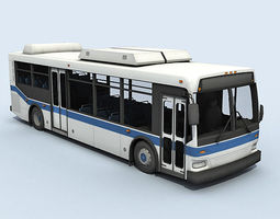 city bus vehicle 3d model low-poly rigged max obj 3ds fbx dae tga