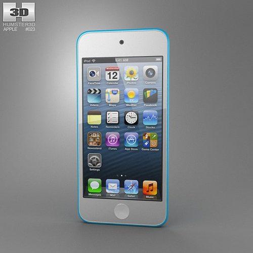 apple ipod touch 5th generation 2012 3d model low-poly max obj mtl 3ds fbx c4d lwo lw lws 1