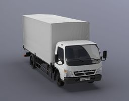 Mitsubishi FUSO Canter with tent body 3D Model