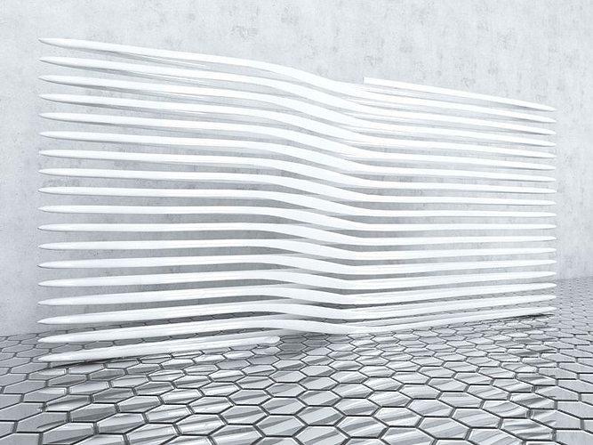 Design Decorative 3d Wall Panel 3d Model Obj 3ds Fbx C4d