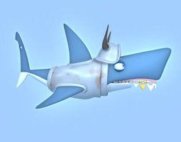 Shark cartoon 3D Model