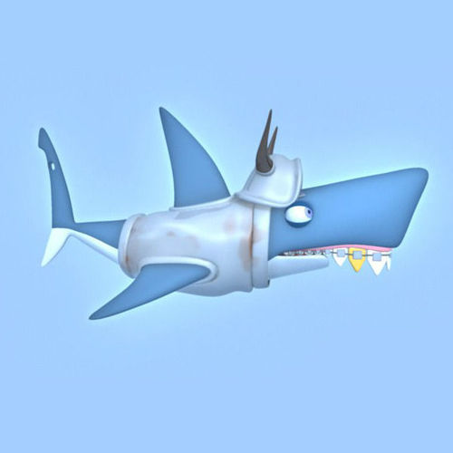 Shark cartoon3D model