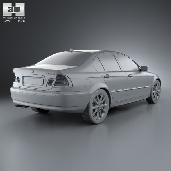 BMW 3 Series Sedan E46 2004 3D Model MAX OBJ 3DS FBX C4D