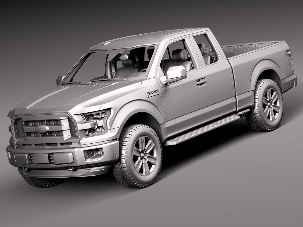 ford f 150 extended cab 2015 3d model 2017 2018 best cars reviews. Black Bedroom Furniture Sets. Home Design Ideas