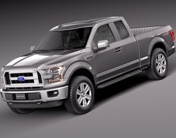 Ford F-150 Extended Cab 2015 3D Model