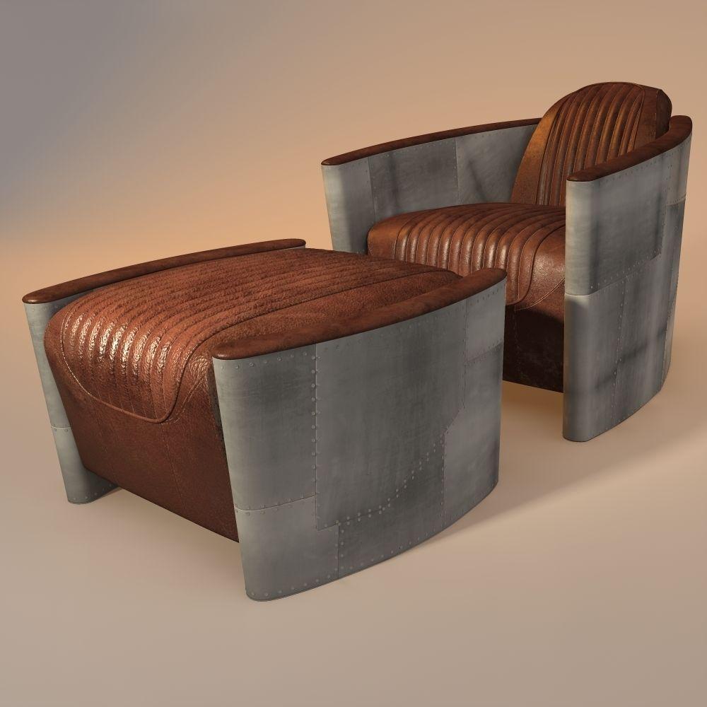 aviator chair and ottoman 3D Model .obj .3ds .fbx .3dm ...
