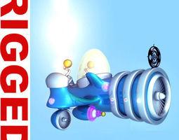 Spaceship Cartoon 3D Model