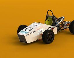 Formula Student India Race Car - Max Optimized 3D Model