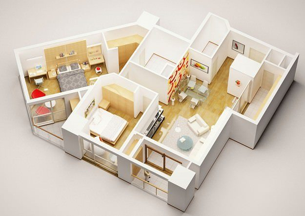 3d model detailed house interior 3 cgtrader - Model house interior design pictures ...