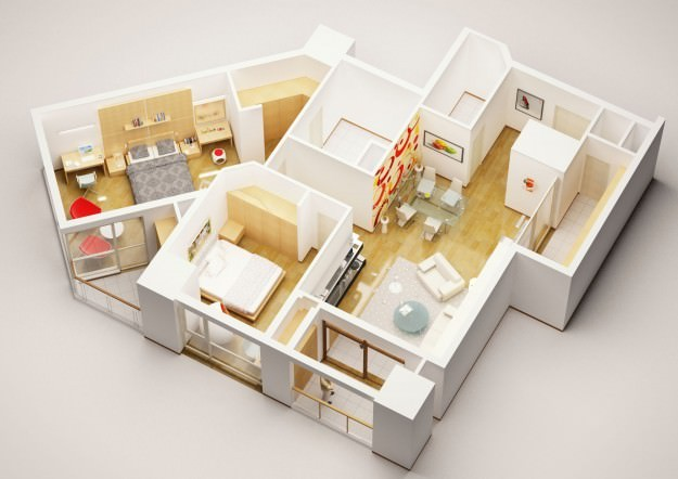 3d Model Detailed,house,interior,model,models,architecture,furnishings,