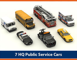 Cars Pack 01 3D Model