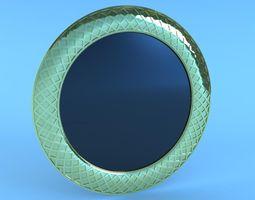 Gold Leaf Mirror 3D Model