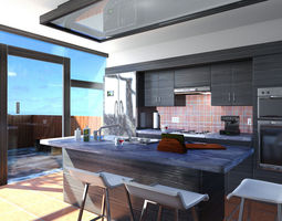 Mr Kitchen 01 3D