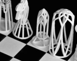 VR / AR ready 3d printing chessgame designed in barcelona