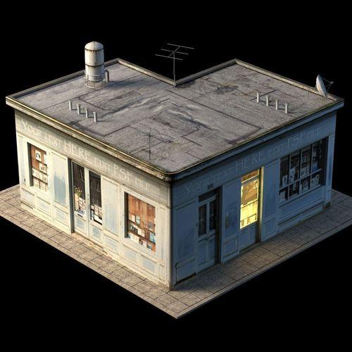 Small Shop Building3D model