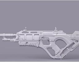 3D Futuristic Rifle