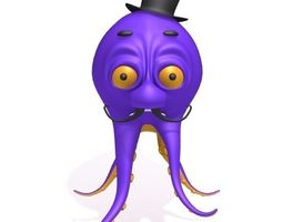 Octopus Cartoon 3D Model