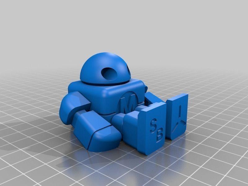Maker Faire Robot Action Figure Single File Free 3d Model