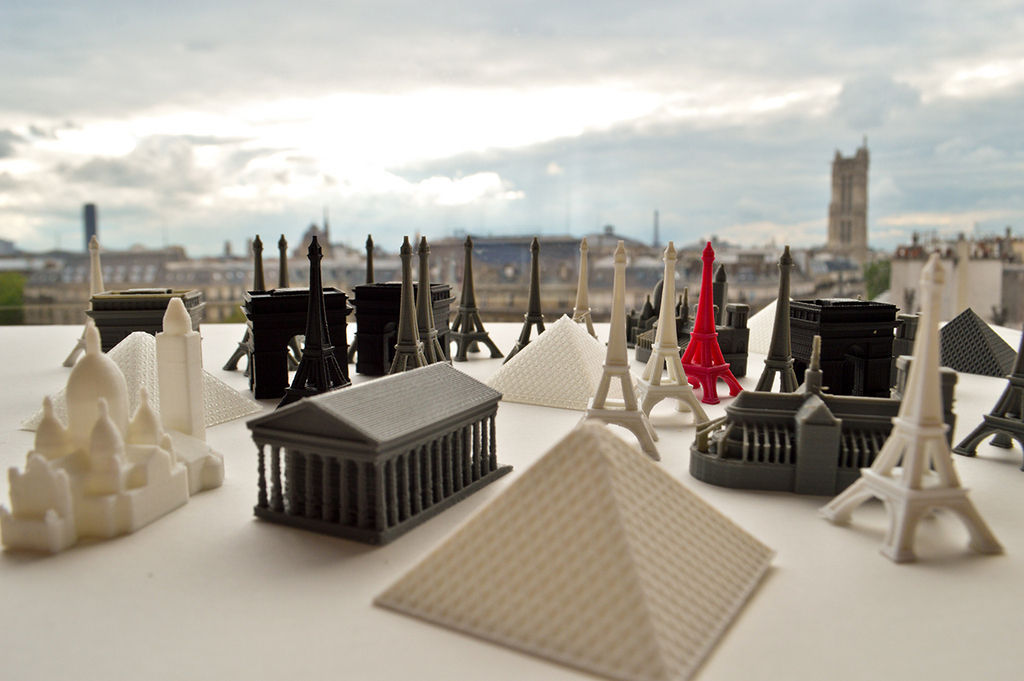photo relating to Free Printable Model Buildings named 3D print design Well-known Paris Structures CGTrader