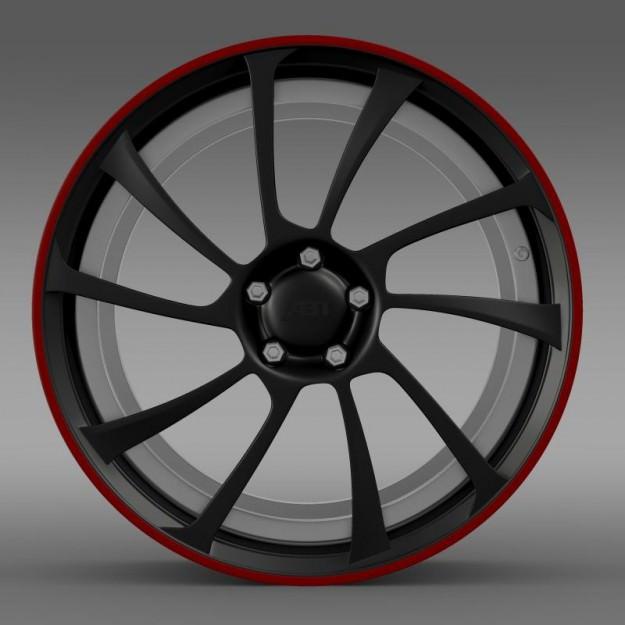 VW Beetle ABT 2012 Rim 3D Model MAX OBJ 3DS FBX C4D LWO LW