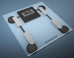 3d model bathroom weight scale